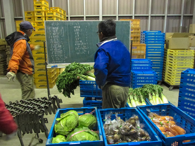 Préparation pour la distribution des paniers