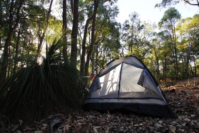 Une nuit sous tente